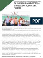 08-07-2019 Promesa cumplida; inaugura el gobernador vías carreteras a los Pueblos Santos, en la zona serrana de Chilpancingo.