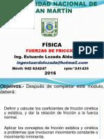 FUERZAS DE FRICCIÓN