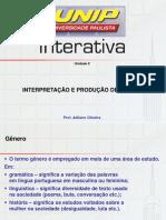 slides - interpretação e produção de textos