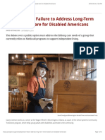 the bipartisan failure to address long-term home-based care for disabled americans