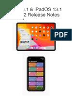 iOS & iPadOS 13.1 Beta 2 Release Notes