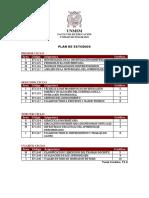 Plan de estudios - Maestría Docencia Universitaria