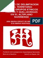 Intento de Delimitación Del Territorio de Los Grupos Étnicos Pastos y Quillacingas en El Altiplano Nariñense
