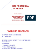 Group 3 - Exports From India Schemes