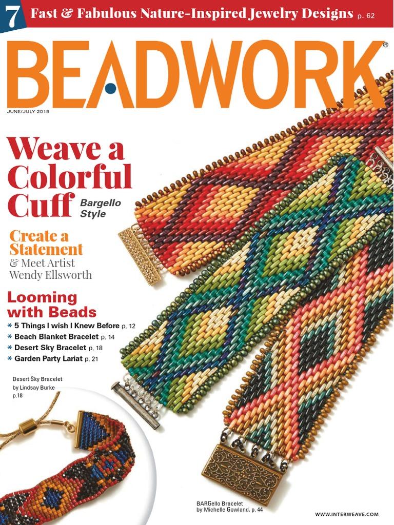 beads 110 size Sienna Narrow Loom bead pattern for bracelet PDF instant download brown easy pattern loomed bracelet Native inspired