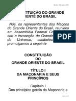 Constituição Do GOB 2006