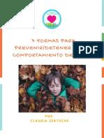 7 formas para prevenir / detener problemas de comportamiento en los niÑos