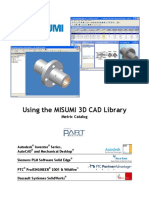 Using the MISUMI 3D CAD Library
