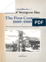 Bank of Sturgeon Bay the First Century 1889-1989