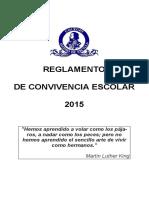 Nuevo Reglamento de Convivencia Escolar 2015-2016 - En Arreglo -13-12