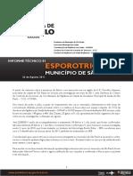 Informe Tecnico Esporotricose Para o Municipio de Sao Paulo 2011 2