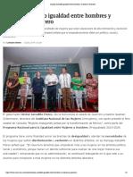 12-07-2019 Impulsa Astudillo Igualdad Entre Hombres y Mujeres en Guerrero.