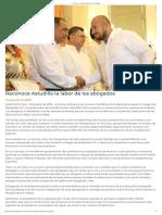 12-07-2019 Reconoce Astudillo La Labor de Los Abogados.