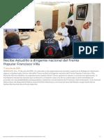 17-07-2019 Recibe Astudillo a Dirigente Nacional Del Frente Popular Francisco Villa.