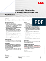 CHP134 – Protection for Distribution Networks and Industry - Fundamentals & Applications