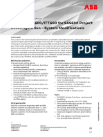 CHP194 – IET600-ITT600 for SAS600 Project Reconfiguration – System Modifications