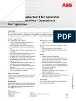 CHP151 – REG216-316 for Generator Protection Solutions - Operation & Configuration