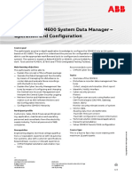 CHP170 – SDM600 System Data Management – Operation & Configuration