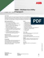 CHP556 – FOX660 Multiservice Utility MUX for TDM Transport