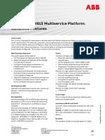 CHP597 – FOX615 Multiservice Platform Advanced Features