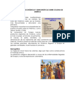 Consecuencias Económicas y Demográficas Sobre Colonia de América