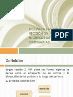 Diapositiva Ingresos Ordinarios