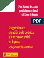 Diagnóstico de situación de la pobreza y la exclusión social en España. Una aproximación cuantitativa