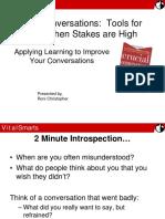 Crucial Conversations Handouts