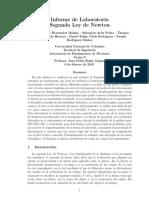Informe de laboratorio fundamentos de mecanica