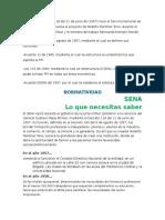 Plegable Historia y Normatividad Del SENA