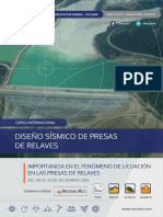 Brochure Diseno Sismico de Presas de Relaves
