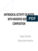 Antiradical Actividad of Water With Modified Isotope Composition