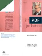 Livro BAUDRILLARD, Jean. - Simulacros e simulação.pdf