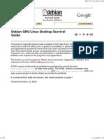 Debian GNU-Linux Desktop Survival Guide
