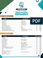 Lista de Precios Educacion Permanente