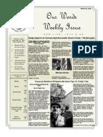 Newsletter Volume 10 Issue 31