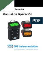 Manual de operacion detector de gases GFG G450