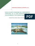 HACIA UN NUEVO PARADIGMA DEL ORDENAMIENTO TERRITORIAL DE LA ZONA METROPOLITANA DEL VALLE DE MÉXICO Y SUS CUENCAS HIDROLÓGICAS