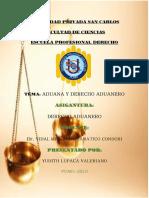 Yudith Lupaca - Derecho Aduanero Trabajo