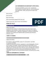 Las Funciones de Las Herramientas de Microsoft Office Exce1
