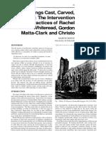 Gordon Matta-Clark, Christo e Rachel Whiteread