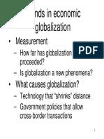Trends in Economic Globalization