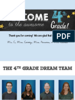 4th Grade Curriculum Night 2019-2020