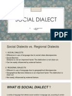 PPT Social Dialect