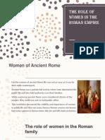 The Role of Women in the Roman Empire (1)