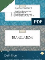 Translation Group 1 (Class g)