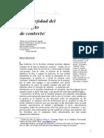 Complejidad Concepto de Contexto (Bianciardi)