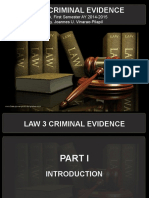 Law 3 Criminal Evidence 2014 Edition Concise PPT