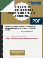 PREGUNTA DE INVESTIGACIÓN Y PLANTEAMIENTO DEL PROBLEMA