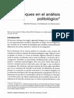ENFOQUES EN EL ANÁLISIS POLITÓLOGO